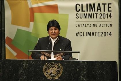Evo Morales dice que 'luchar contra el cambio climático es acabar con el capitalismo'