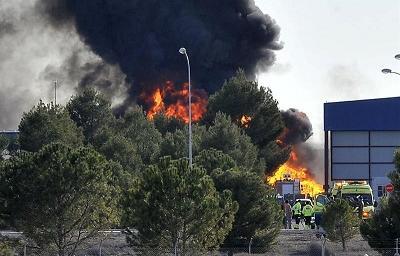 Mueren diez personas en un accidente aéreo en España