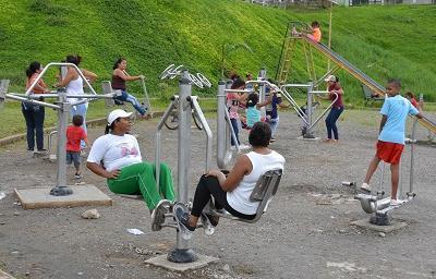 En Santo Domingo existen tres gimnasios gratuitos
