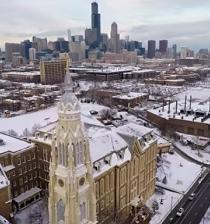 Video realizado por drone muestra a la ciudad de Chicago congelada