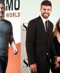 Shakira y Piqué cenaron junto a Mark Zuckerberg, creador de Facebook