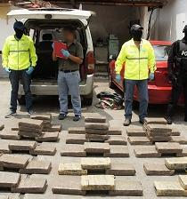 Droga decomisada en Guayas salió de Santo Domingo, según la Policía
