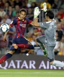 Neymar y Bravo se unen al entrenamiento azulgrana