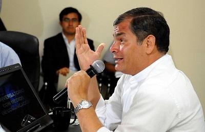 Rafael Correa: las venas de América Latina están abiertas por la muerte de Galeano