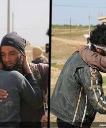 Militantes del EI abrazan a dos homosexuales antes de lapidarlos