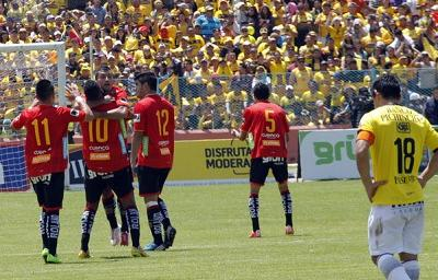 ¡SIGUEN SIN GANAR! Barcelona cayó 3-2 ante Deportivo Cuenca de visitante