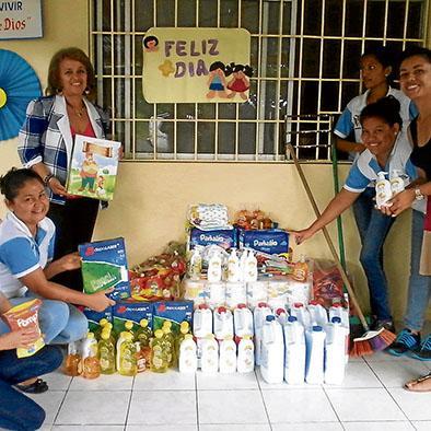 Donan materiales