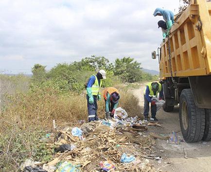 Parque para tratar basura