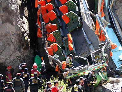 Varios niños mueren en accidente de bus