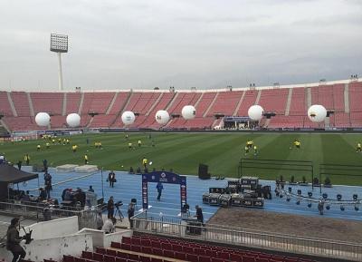 Un dron sobrevoló el Estadio Nacional mientras Ecuador realizaba entrenamiento
