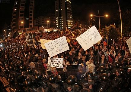 Tercera jornada de manifestaciones en contra de las políticas del Gobierno