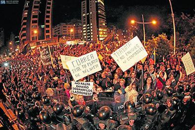 Tercera jornada de manifestaciones