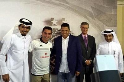 Xavi es presentado oficialmente en el Al Sadd catarí