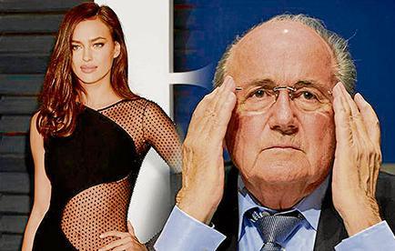Irina Shayk niega romance con el suizo Joseph Blatter