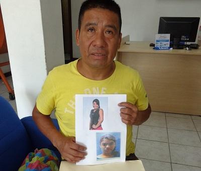 Hombre busca a sus dos hijas desaparecidas