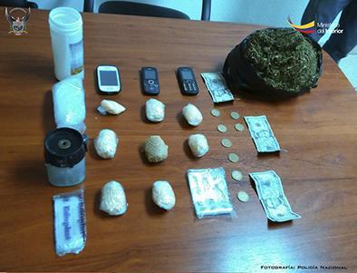 Tres personas detenidas por droga
