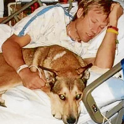 Hombre rinde tributo a su perro fallecido