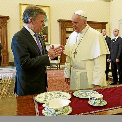 El papa ayudara en el proceso de paz