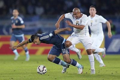 Argentina venció por la mínima diferencia a Uruguay
