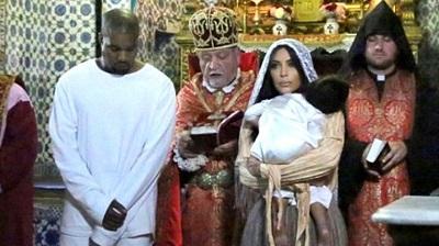 La hija de Kim Kardashian fue bautizada en Jerusalén
