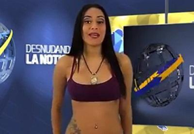 Presentadora venezolana se desnuda en apoyo a su selección