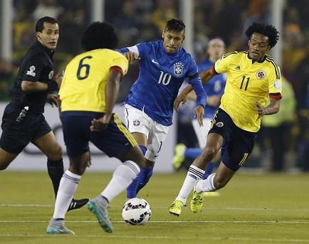 Jeison Murillo dio la victoria a Colombia ante Brasil (1-0)