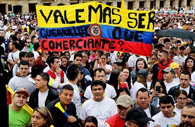 """La marcha de los """"Sanandresitos"""""""