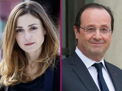 Hollande y Julie Gayet se encuentran en un acto oficial