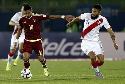 Perú venció 1 a 0 Venezuela con gol de Pizarro