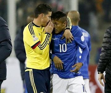 James: 'Le dije a Neymar que tuviera calma' (VIDEO)
