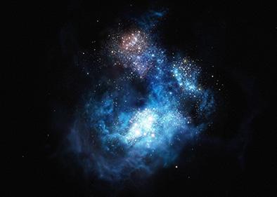 Cr7, la galaxia más luminosa del Universo