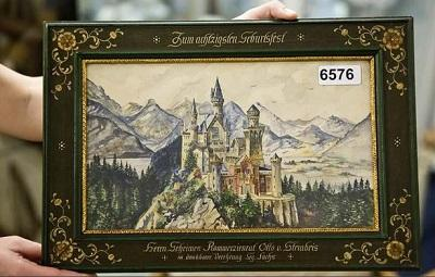 Subastan 14 acuarelas y dibujos de Hitler por 444.000 dólares