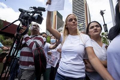 Opositores se concentran para marchar en apoyo de Leopoldo López