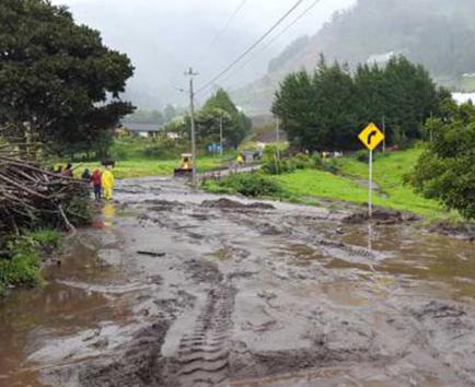 Los deslaves afectan  a varias familias en la  comunidad de Puñapí