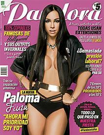 Paloma Fiuza sorprende y explota sensualidad  en la portada de Pandora