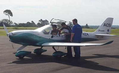 Ponen a prueba en Paraguay el primer avión eléctrico tripulado de Sudamérica