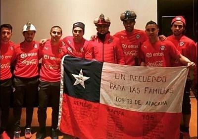 Los jugadores de Chile vieron en primicia la película 'Los 33'