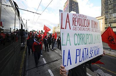 La oposición seguirá con las protestas