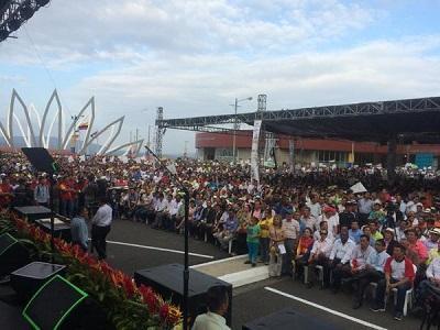 Rafael Correa participa en el evento 'Somos Gobiernos Parroquiales'