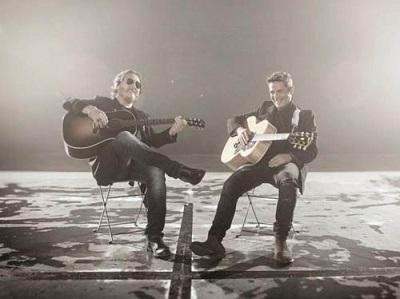 Alejandro Sanz y Zucchero cantan juntos 'Un zombi a la intemperie'
