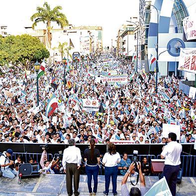 Machala también sale a las calles