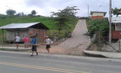 Chimborazo pide obras que den seguridad en la vía que lleva a ese sector