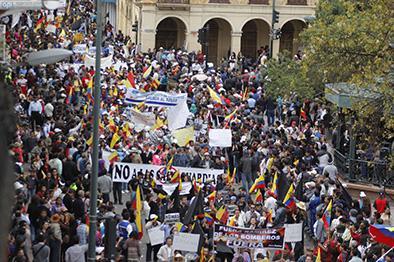 Cuencanos se sumaron a las protestas