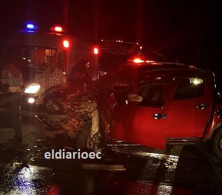 Un muerto y 13 heridos en un accidente en Tosagua