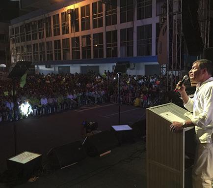 Correa participó en actos en Manta