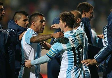 """Messi: """"A Tévez lo abracé con felicidad"""""""