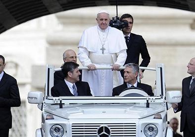 Un millón de personas por visita papal