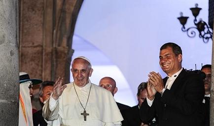 El papa Francisco se reunió con el presidente de Ecuador en privado