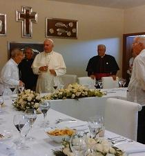 Manabitas fueron protagonistas en almuerzo del papa en Guayaquil (FOTOS)