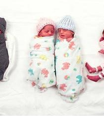 Tres pares de mellizos nacen en un mismo día en Montana